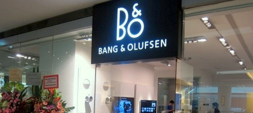 Bang & Olufsen store at Festival Walk in Hong Kong.