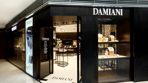 Damiani jewellery store at Landmark Atrium mall in Hong Kong.
