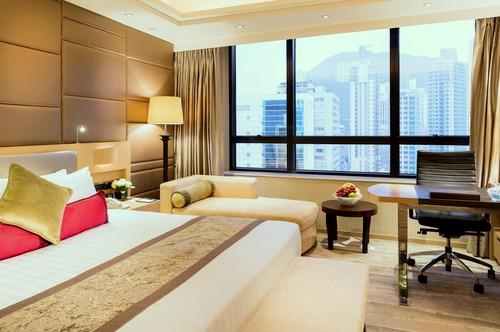 Gloucester Luk Kwok Hotel's guest room in Hong Kong.