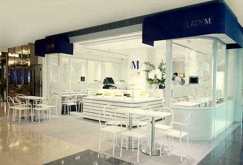 Lady M patisserie at Festival Walk mall in Hong Kong.