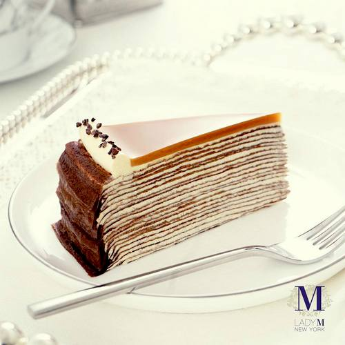 Lady M Salted Caramel Mille Crepe, available in Hong Kong.