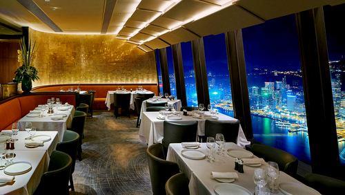 Le 39V Hong Kong French restaurant at International Commerce Centre in Hong Kong.