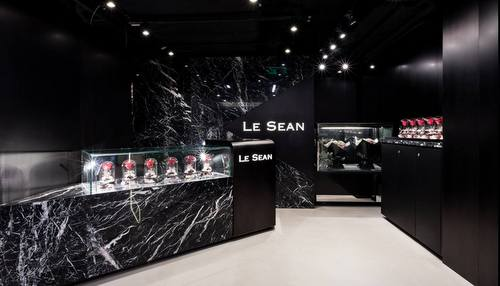 Le Sean Seasons florist shop at Fashion Walk in Hong Kong.