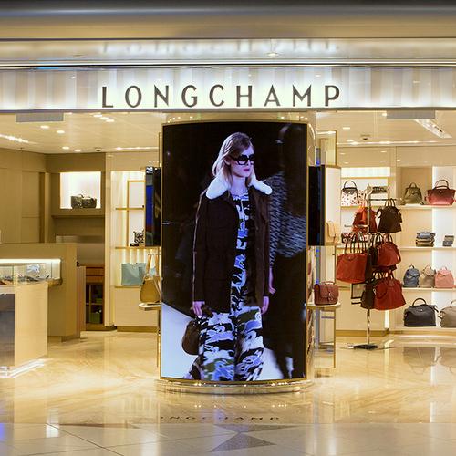 Longchamp store at Hong Kong International Airport.