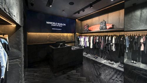 Marcelo Burlon clothing store at Harbour City mall in Hong Kong.