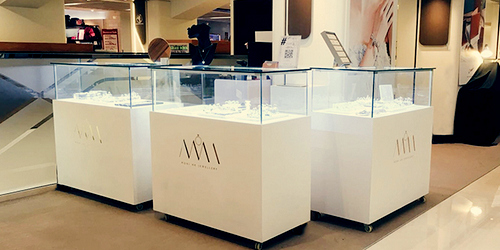 MONI HK Jewellery store at Fashion Walk mall in Hong Kong.