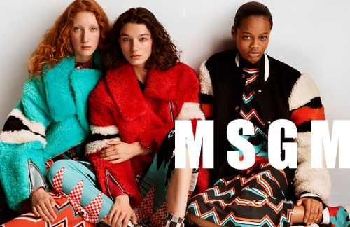 MSGM womenswear clothing, available in Hong Kong.