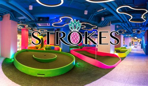 Strokes mini golf & lifestyle centre in Hong Kong.