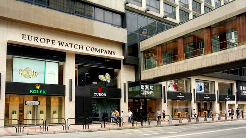 Europe Watch Company store at The Royal Garden in Hong Kong.