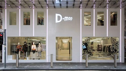 D-mop urban fashion clothing store in Hong Kong.