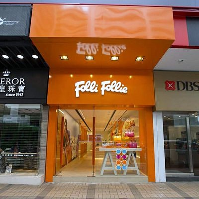 Folli Follie store along Canton Road in Hong Kong.