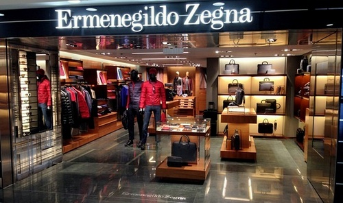 7363b429b7 Ermenegildo Zegna shop at Hong Kong International Airport.