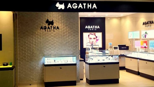 Agatha Paris jewellery store at Times Square mall in Hong Kong.