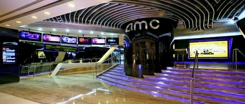 AMC movie theater at Pacific Place mall in Hong Kong.