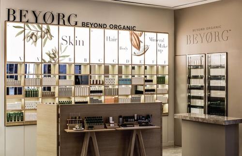 Beyorg Organic Spa shop at ifc mall in Hong Kong.