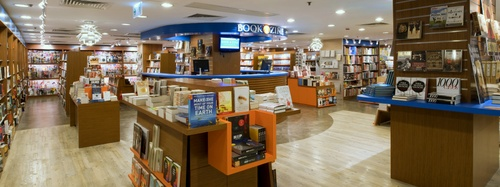 Bookazine bookstore at Landmark Prince's mall in Hong Kong.