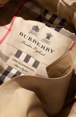 Burberry coat detail.