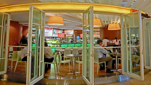 Café MET cafe restaurant at Pacific Place in Hong Kong.