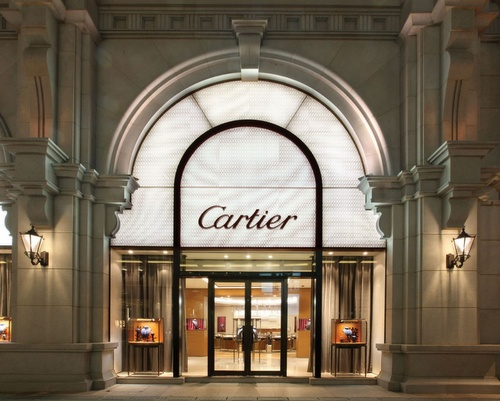 Cartier jewellery and watch store 1881 Heritage mall in Hong Kong.