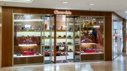 Church's shoe store at Harbour City mall in Hong Kong.