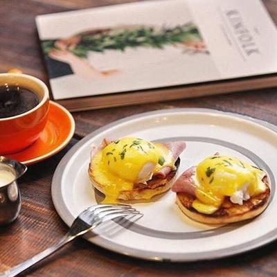 Classified cafe restaurant eggs benedict breakfast.