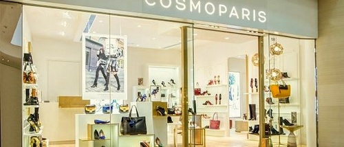 Cosmoparis shoe store at Pacific Place mall in Hong Kong.