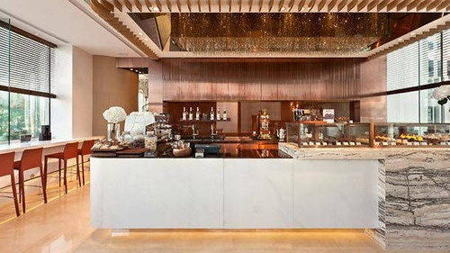 Dolce 88 Italian deli restaurant at JW Marriott hotel in Hong Kong.