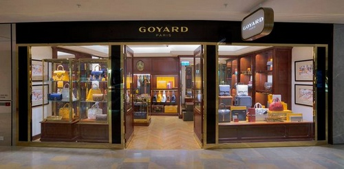 Goyard bag store at Pacific Place mall in Hong Kong.