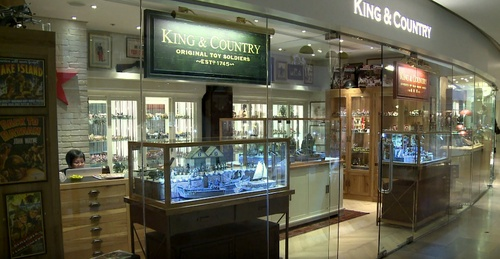 King & Country toy soldier shop at the Pacific Place mall in Hong Kong.