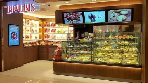 Lucullus Gourmet Shop at Telford Plaza mall in Hong Kong.