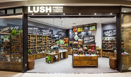 Lush cosmetics store at the APM shopping mall in Hong Kong.
