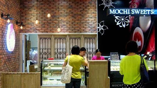 Mochi Sweets gourmet shop at APM mall in Hong Kong.