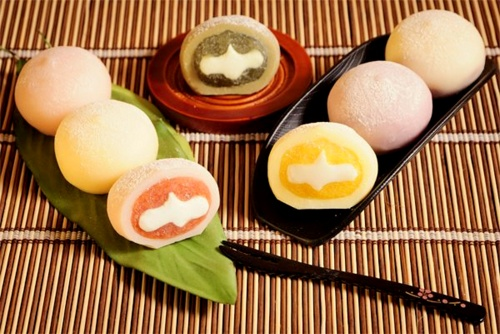 A sortiment of mochi sweets in Hong Kong.