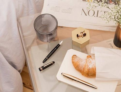Montblanc fountain pen.
