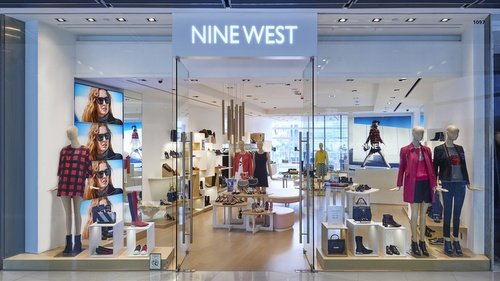 Nine West shoe and accessories shop at ifc mall in Hong Kong.