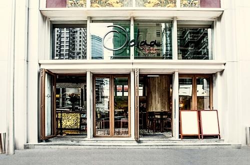 Oolaa Petite cafe restaurant, located in Wan Chai, Hong Kong.