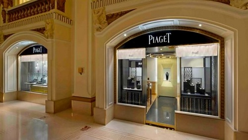 Piaget watch and jewellery store at The Peninsula Hotel in Hong Kong.