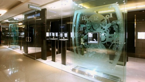 Richard Mille watch store at Pacific Place mall in Hong Kong.