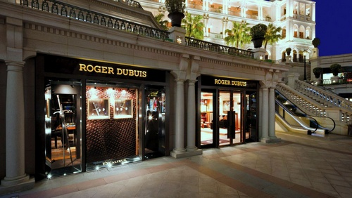 Roger Dubuis watch store at 1881 Heritage mall in Hong Kong.