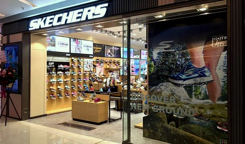 Skechers shoe store at APM shopping mall in Hong Kong.