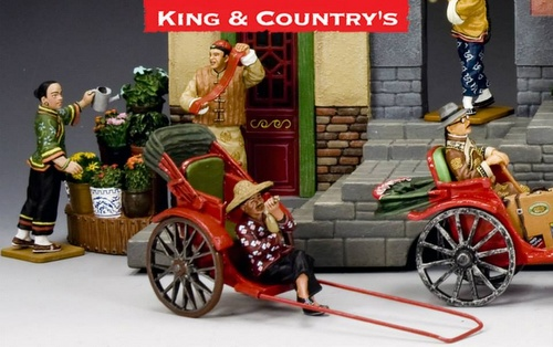 "Streets of Old Hong Kong ""The New Rickshaw"" miniature set at King & Country shop."