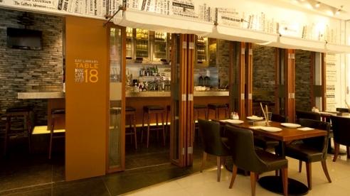 Table 18 restaurant & bar in Hong Kong.