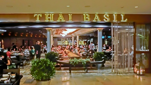 Thai Basil Thai restaurant at Pacific Place in Hong Kong.
