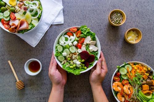 Toss and Turn salad bar restaurant meals in Hong Kong.