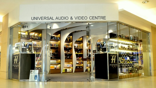 Universal Audio & Video Centre store at Landmark Atrium mall in Hong Kong.