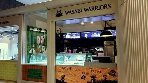 Wasabi Warriors sushi restaurant at Pacific Place in Hong Kong.