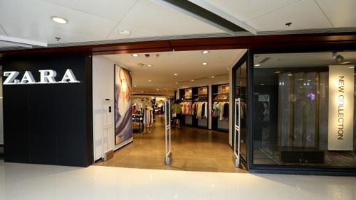 Zara clothing store at Telford Plaza mall in Hong Kong.