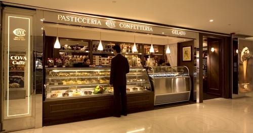COVA Milano pasticceria-confetteria bakery & coffee house Hong Kong.
