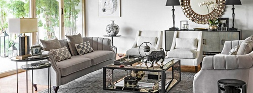 Indigo Living furniture and home decoration products.