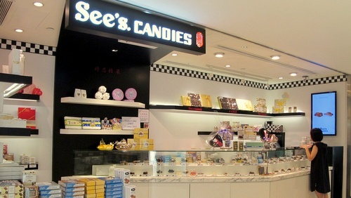 See's Candies Landmark Atrium Singapore.